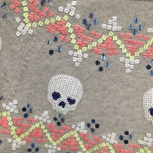 Autumn Cashmere Sweaters - Autumn Cashmere Skull Hi-lo Sweater